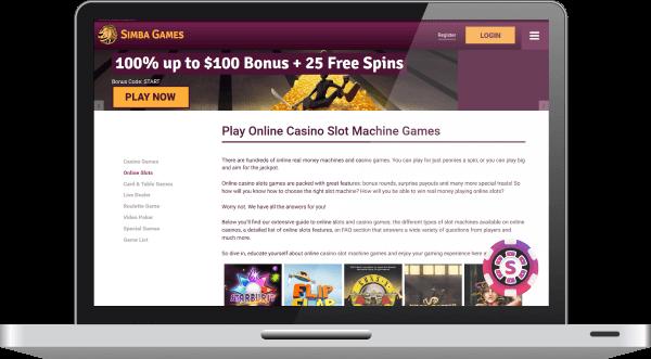 Simba Games Casino Spil